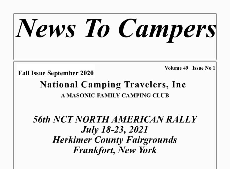 """December News to Campers""  is on Line"